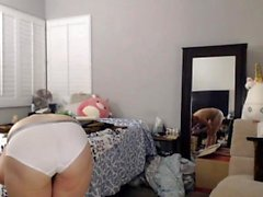 Anal Sex Hot blonde masturbate to webcam with dildo