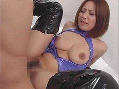Asian cutie loved big cocks