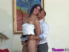 Ladyboy prostitute jizzed