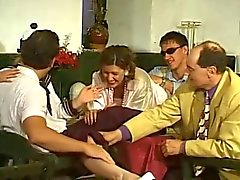 doble penetración alemán sexo en grupo