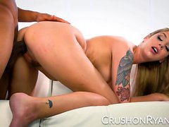 CrushGirls - Ryan apologizes by sucking his big black cock