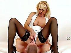Sexy hot stockings legs czech milf Koko facesitting
