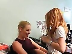 Lesbians Fun In The Office