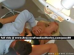 Verry hot blonde dentist on her chair