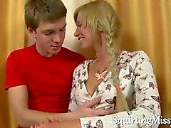 blond étudiant russe