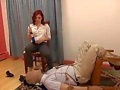 calze femdom feticismo del piede