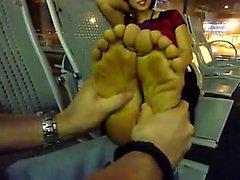 amateur asiático fetichismo del pie