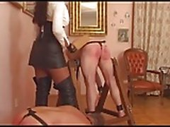 Ruthles Domination of 2 Slaves GER