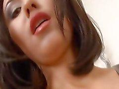 sexo anal dupla penetração meia-calça