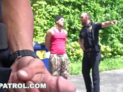 gaypatrol latin latino единообразный геи патруль полицейский полицейский косплей офицер гей-гей секс геи анальный грустный смешной плохой мальчики-взломщики