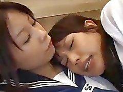 2 Schoolgirls Fucked Facial In The Elevator