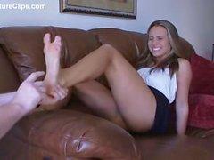 Tickling Renna's Bare Feet