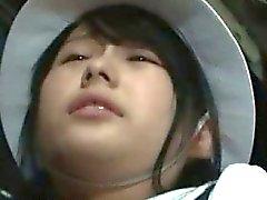 Nasty Asian babe is so horny part1