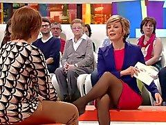 Belgian Television hostess wonderfull legs