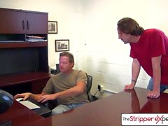 The StripperExperience - Karmen Karma suking 3 big dicks