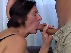 Hairy Granny in Stockings Toys and Fucks LST