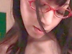 asiático mamada colegio japonés milf