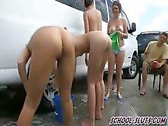 college meisje groepsseks lesbisch buiten
