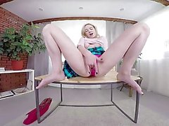 TmwVRnet - Effy Sweet - Sexy Blondie Plays with Dildo