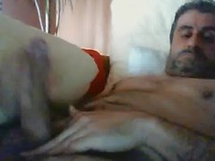Hot spanish daddy cumming
