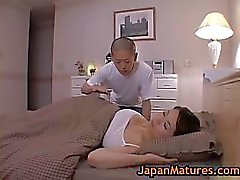 Mature bigtit miki sato masturbating on bed 2 by japanmatures
