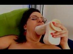 girl mature big busty pantyhose nylon anal fisting dildo 46