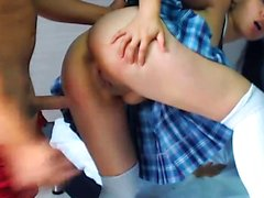Lovely Latina Schoolgirl Gets Banged In Doggy And Cowgirl