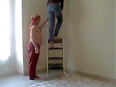 Two Fakirs vs One Giantess (hard trampling - beatdown)