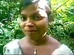 Indian Sweet village girl fucked outside