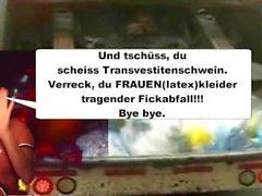 Als LatexMaidLuder scheiss Transvestitenschweine totpressen und verbrennen