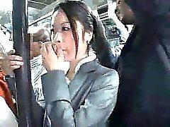 Young Officegirl groped by Black Stranger
