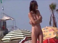 praia masturbação nudez em público