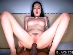 BLACKEDRAW Canadian girlfriend takes huge bbc in her ass