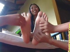 Latina Diana Tickled On Her Feet