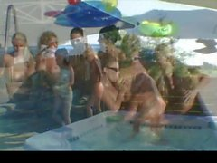 Naughty Allie All Girl Pool Swinger Party