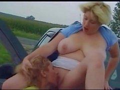bbw lesbiche cunnilingus auto
