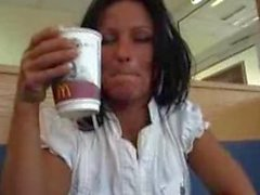 Candy Samira at Mc Donalds