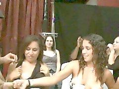 Dancers showing ladies swinging jock