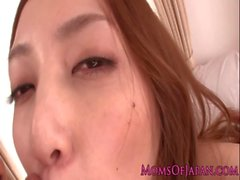 Asian milf face jizzing