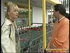 german milf picked up for her first anal