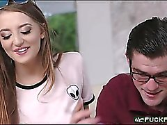 Tight teen Avery Adair gets railed by her nerdy stepson