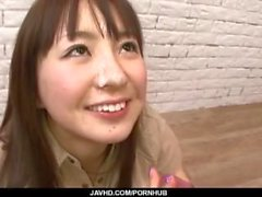 Hitomi Fujihara sucks cocks in nasty gangbang