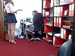 ragazza in -girl pescati - ai - lavori naughty- ufficio lesbica