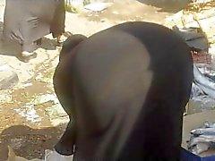 Arab Street Voyeur - Big Butt Candid - Spying Mature Ass