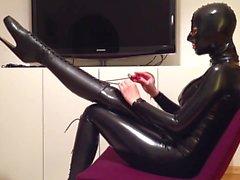 Mask, Catsuit, Ballet Boots & Corset