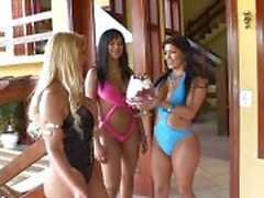 lucky guy fuck two brazilian goddess.