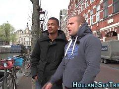 blond pipe européen hd interracial