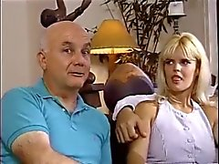 Husband watch his Blonde Wife fucked by 2 men