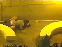 couple fuck outside security camera