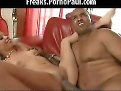 Cute blond gets fucked by huge cock